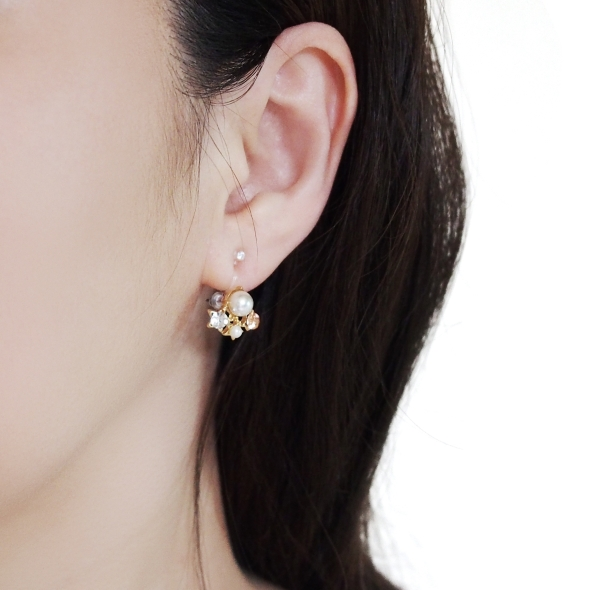 comfortable pierced look invisible clip on earring converter rhinetone Miyabi Grace10.jpg