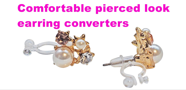 Earring converters Earring adapters Wedding clip on earrings Bridal clip on earrings