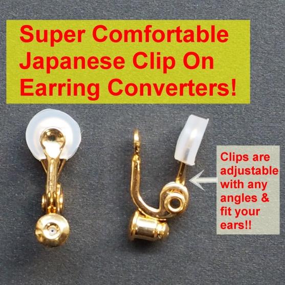 Comfortable pierced look Japanese brass clip on earrings converter gold 3 Miyabi Grace 9.JPG