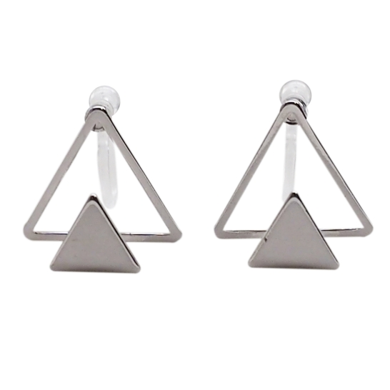 Comfortable-pierced-look-Silver-Double-Triangle-Invisible-clip-on-stud-earrings-Miyabi-Grace (4).jpg