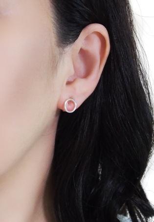 Comfortable pierced look Circle hoop sterling silver invisible clip on earrings Miyabi Grace 7.jpg