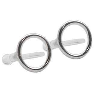 Comfortable pierced look Circle hoop sterling silver invisible clip on earrings Miyabi Grace 8.jpg