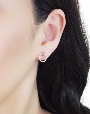 Comfortable pierced look Textured Hoop sterling silver invisible clip on earrings Miyabi Grace7.jpg